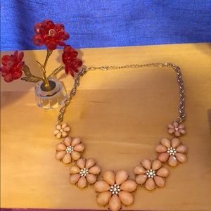 Peach flower necklace